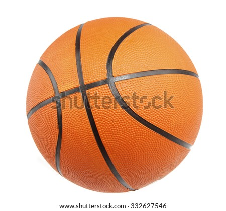 One basketball on plain background  - stock photo