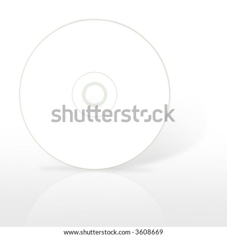 One blank compact disc. (with clipping path) - stock photo