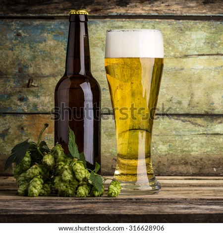 One bottle of beer  - stock photo
