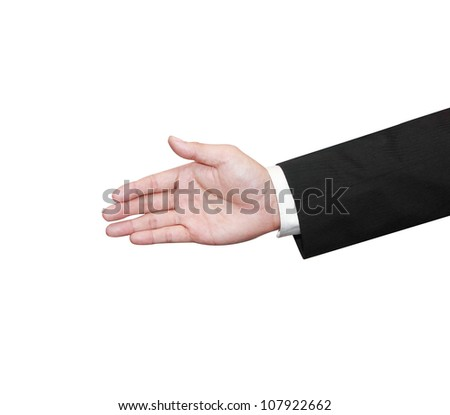 one business hand for a hand shake