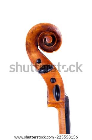 One cello heat on the white background - stock photo