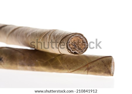 One Cigarette isolated - stock photo