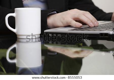one-click service - stock photo