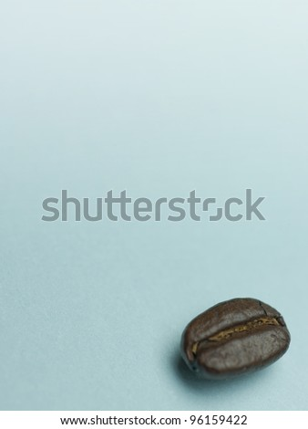 One Coffee Bean on Blue
