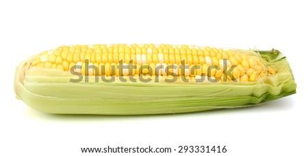 one corn on white background  - stock photo
