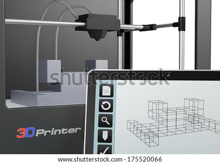 Lucadp 39 S 3d Printer Set On Shutterstock