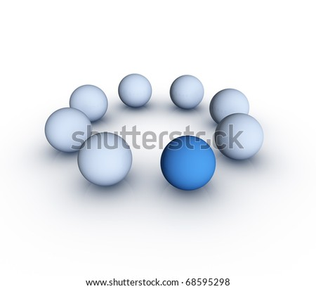 One Different Element (Standing Out From The Crowd Concept) - stock photo
