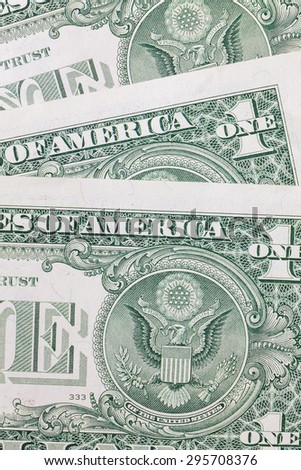One dollar background - stock photo