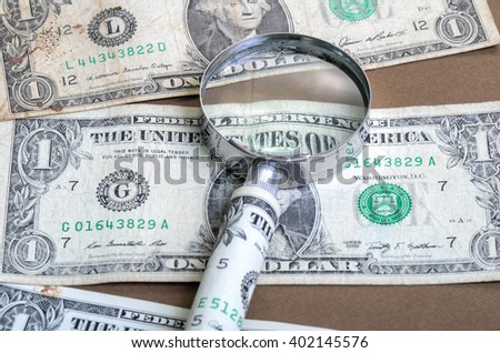 one dollar banknote as a sign of business - stock photo