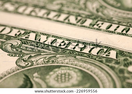 One dollar banknote closeup