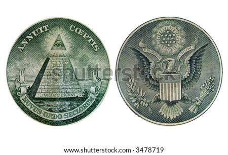 One Dollar Bill Back - stock photo