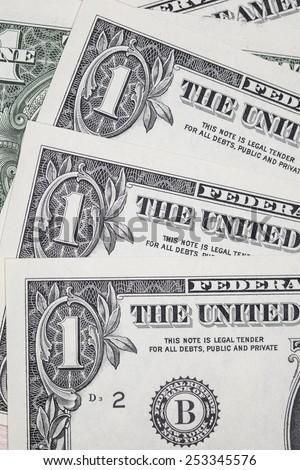 one dollar bill macro - stock photo