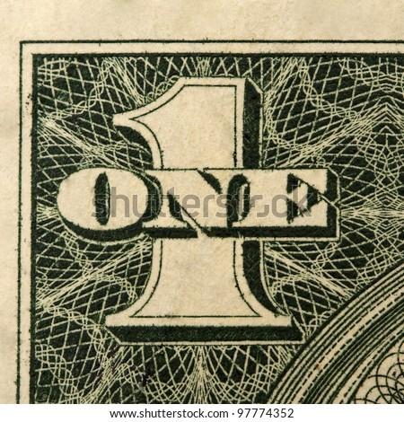 one dollar detail - stock photo
