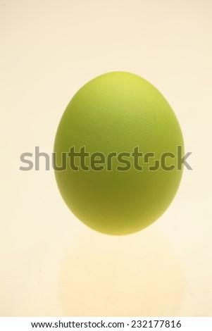 One easter egg isolated on white background - stock photo