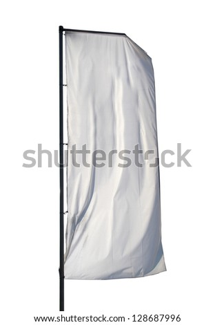 One empty vertical banner. Blank space for write at your own - stock photo