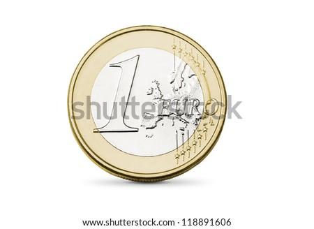 One euro coin - stock photo