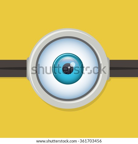 One eye glasses or goggles - stock photo