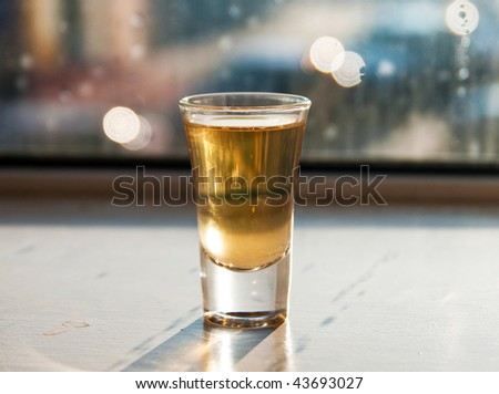 One glass - stock photo