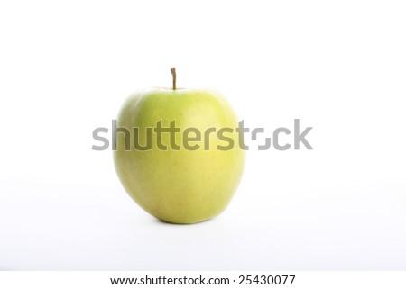 One green apple - stock photo