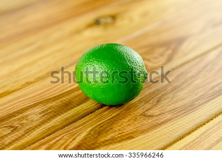 One green lime