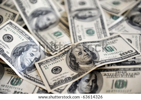 One Hundred American Dollar Bank notes. Concept photo of money, banking ,currency and foreign exchange rates.   - stock photo