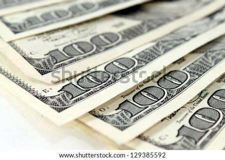 One Hundred Dollar Bills - stock photo