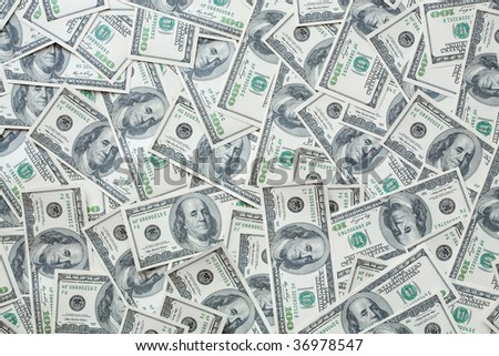 One hundred dollar bills background for your design