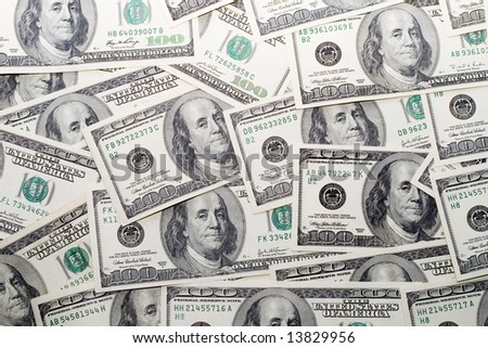One hundred dollars, collection, paper currency