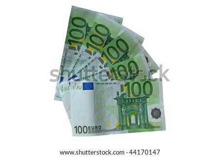 one hundred Euro notes