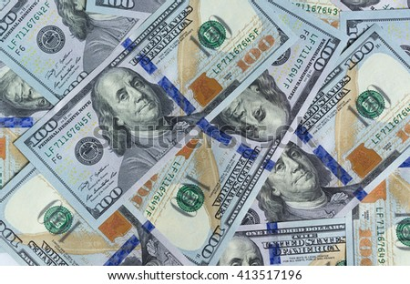 One-hundred US Dollar bills as wealthy concept - stock photo
