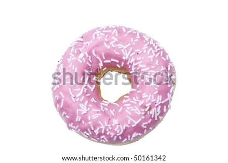 one isolated doughnut - stock photo