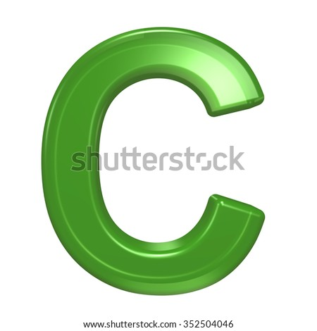 High Resolution 3d Green Font Isolated Stock Illustration ...