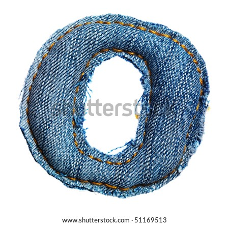 One letter of jeans alphabet