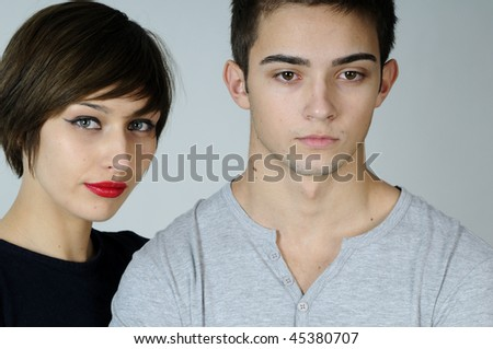 one lovely couple - stock photo