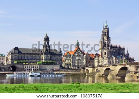 One of Germany�s most beautiful cities, Dresden first gained its pre-eminence in the year 1485.The town blossomed during the 18th century. - stock photo