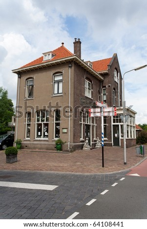 One of many amstelveen's railway stations in august 2010 - stock photo