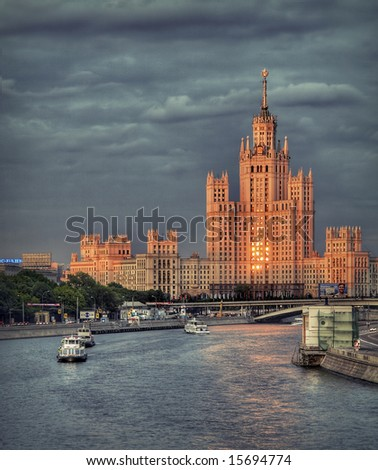 "One of ""Stalin's heights"" in Moscow - stock photo"