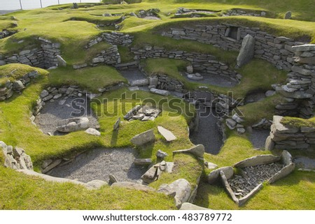 One Best Examples Iron Age House Stock Photo Image Royalty Free