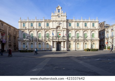 One of the building of the Literature University of Catania situated in the centre of the city, is the one of the oldest buildings of the University of Catania.