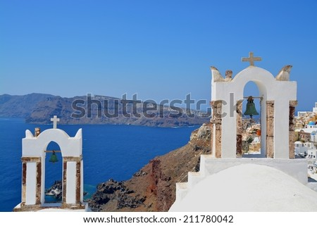 one of the churches of Oia, Santorin, Greece