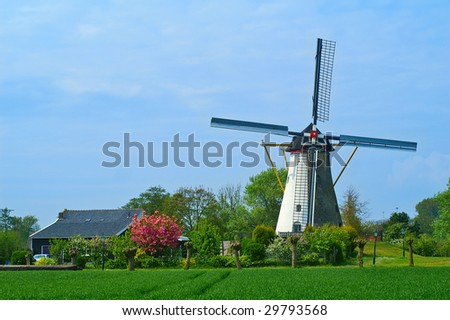 One of the dutch landmarks - stock photo