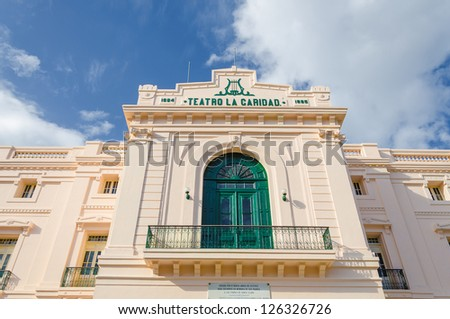 One of the eight Grand Theaters of the Colonial Era located in Santa Clara, Cuba - stock photo