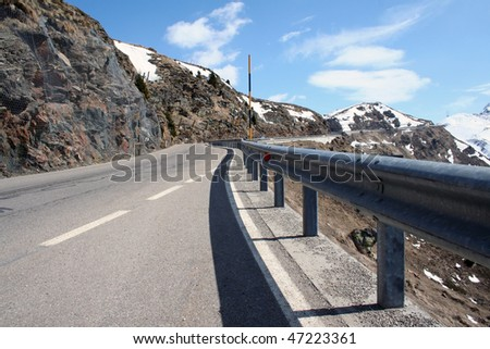 One of the highest passes in the Alps is Jaufen pass between Italy and Austria - stock photo