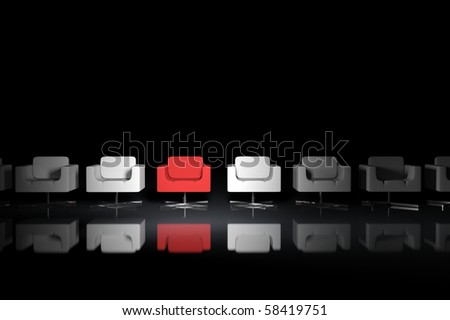 One of the many armchairs - stock photo