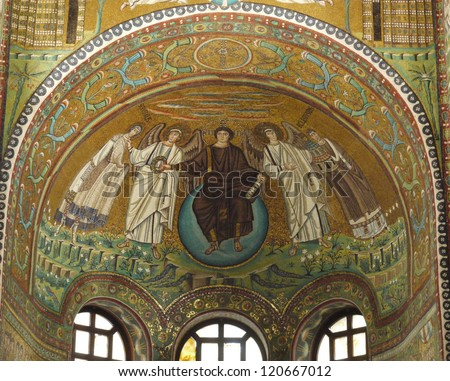 One of the  mosaics of the basilica of San vitale in Ravenna