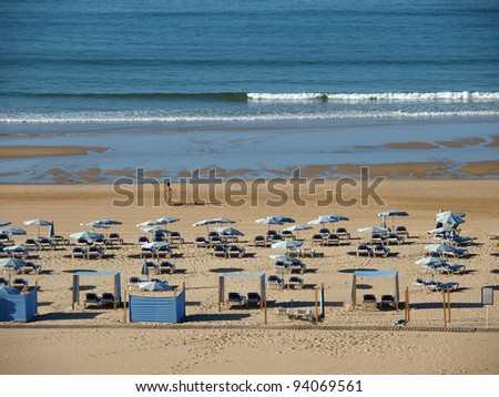 One of the most beautiful beaches in Europe - Praia da Rocha on the Algarve in Portugal