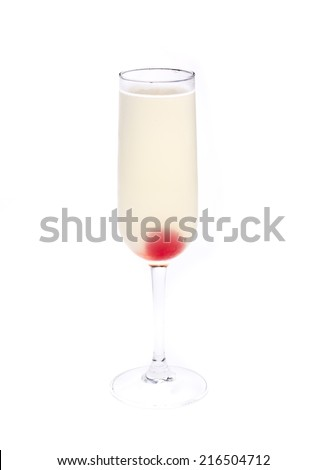 one of the most famous cocktails in the world, the french 75 - stock photo