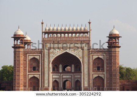 One of the side building (javab) of Taj Mahal complex, Agra, India