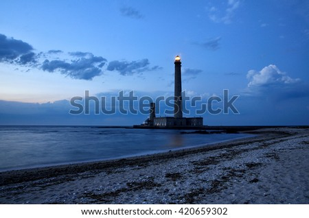 One of the tallest lighthouse in the world, Phare de Gatteville - stock photo