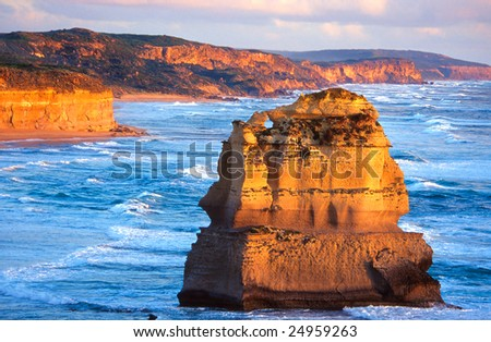 One of the Twelve apostles, Great ocean road, Australia - stock photo
